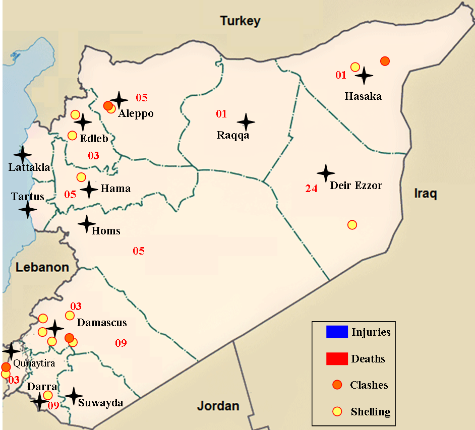 Daily Syrian Conflict Map Naked Middle East - Middle east map conflict